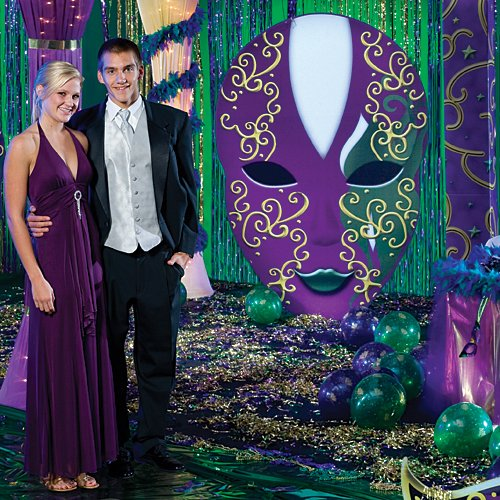 Large Oval Mardi Gras Masquerade Mask Party Prop Standup Photo Booth Prop Background Backdrop Party Decoration Decor Scene Setter Cardboard Cutout -