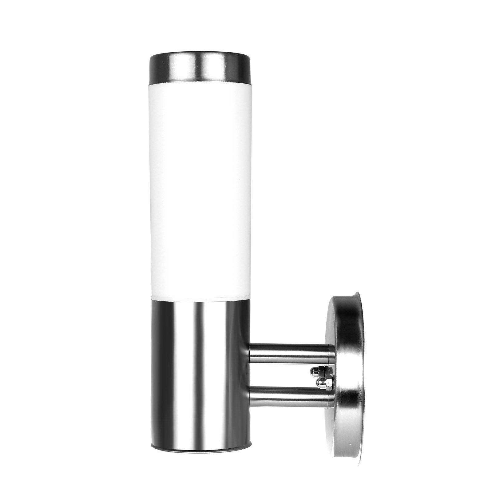 Powstro 5W E27 LED-Bulb-Replaceable Wall Light Fixture Waterproof Stainless Steel Outdoor Indoor Modern Candle Lamp Light for Bedroom,Bathroom,Door,Garden(Warm white)