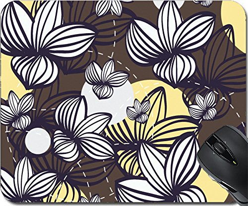Botanical Clipart (MSD Mousepad Mouse Pads/Mat design 27943546 Illustration of floral pattern on brown pattern with yellow spots Clip art)