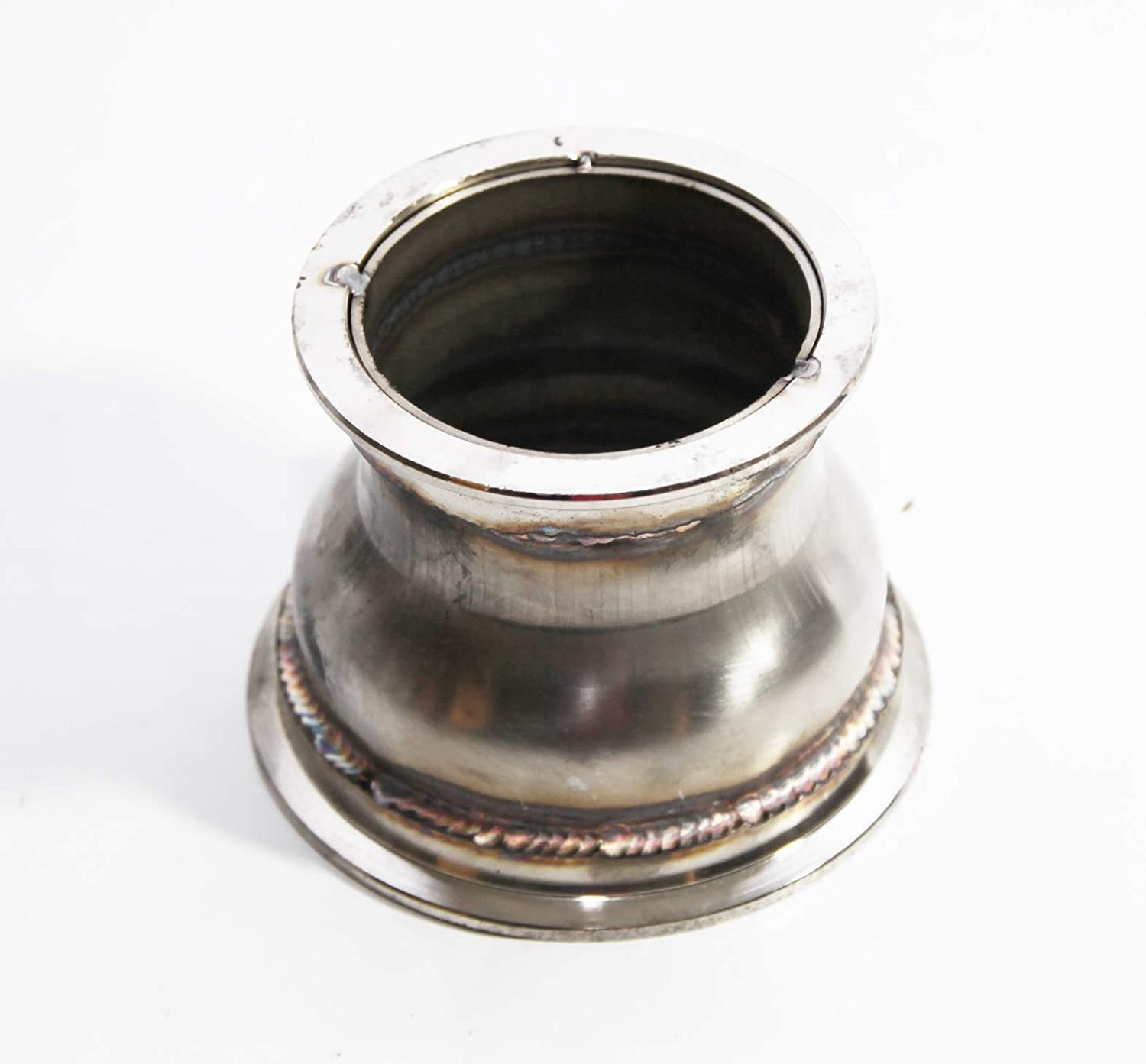 2.5ID to 4ID 3Height Universal Steel V-band Flange Adapter for Turbo Charger Downpipe Exhaust System Elbow Header
