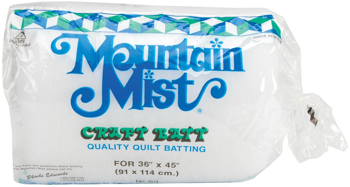 Polyester Quilt Batting-Craft Size 36X45 FOB: MI Mountain Mist