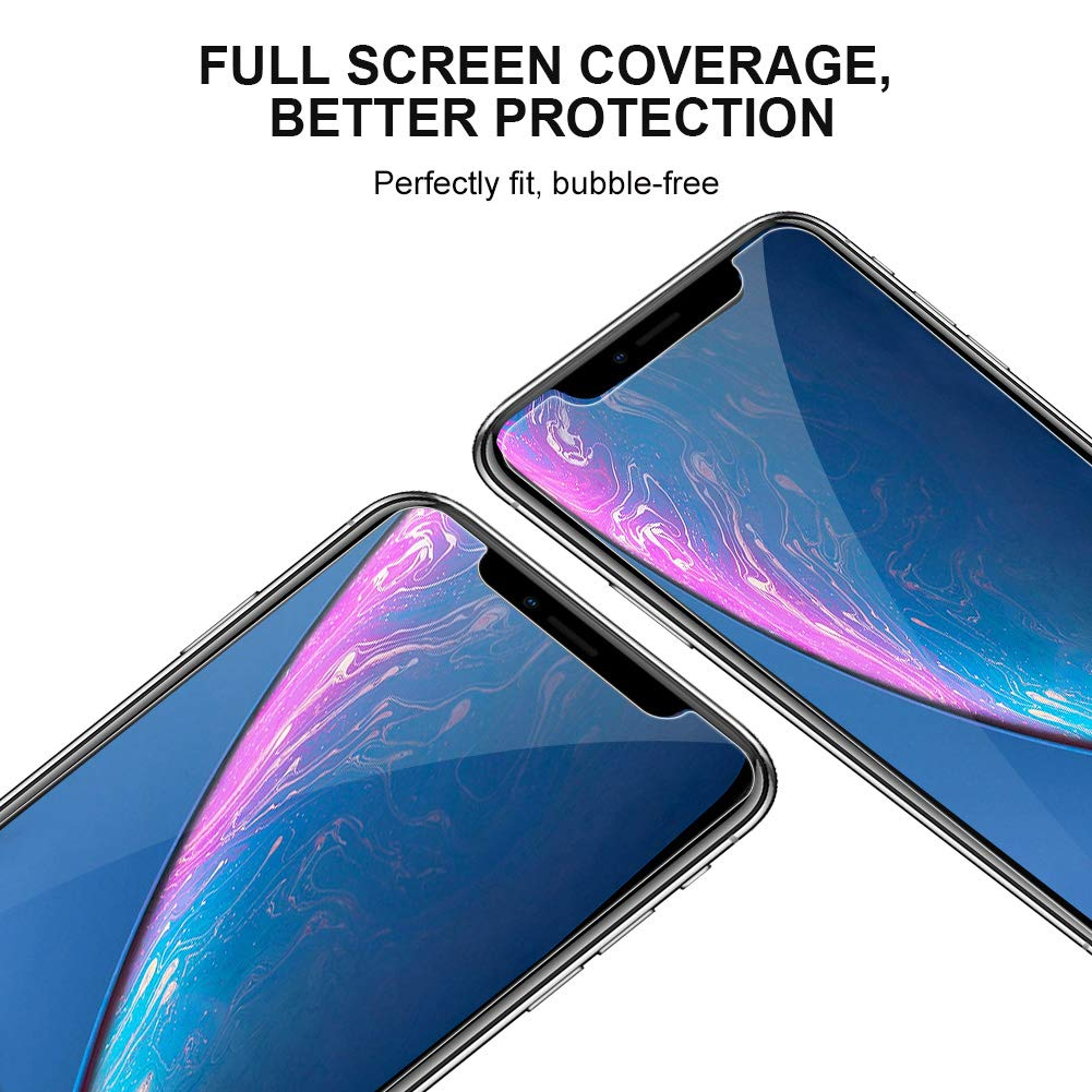 WengTech 3D Curved 9H Hardness Case Friendly Shatter Proof Touch Sensitive Ultra Clear Tempered Glass Screen Protector Film for iPhone XS Max 6.5 inch