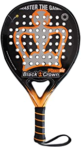 Black Crown Piton Air Padel Racquet Level: Advanced, Competition, Professional | Power 95%, Control 100%