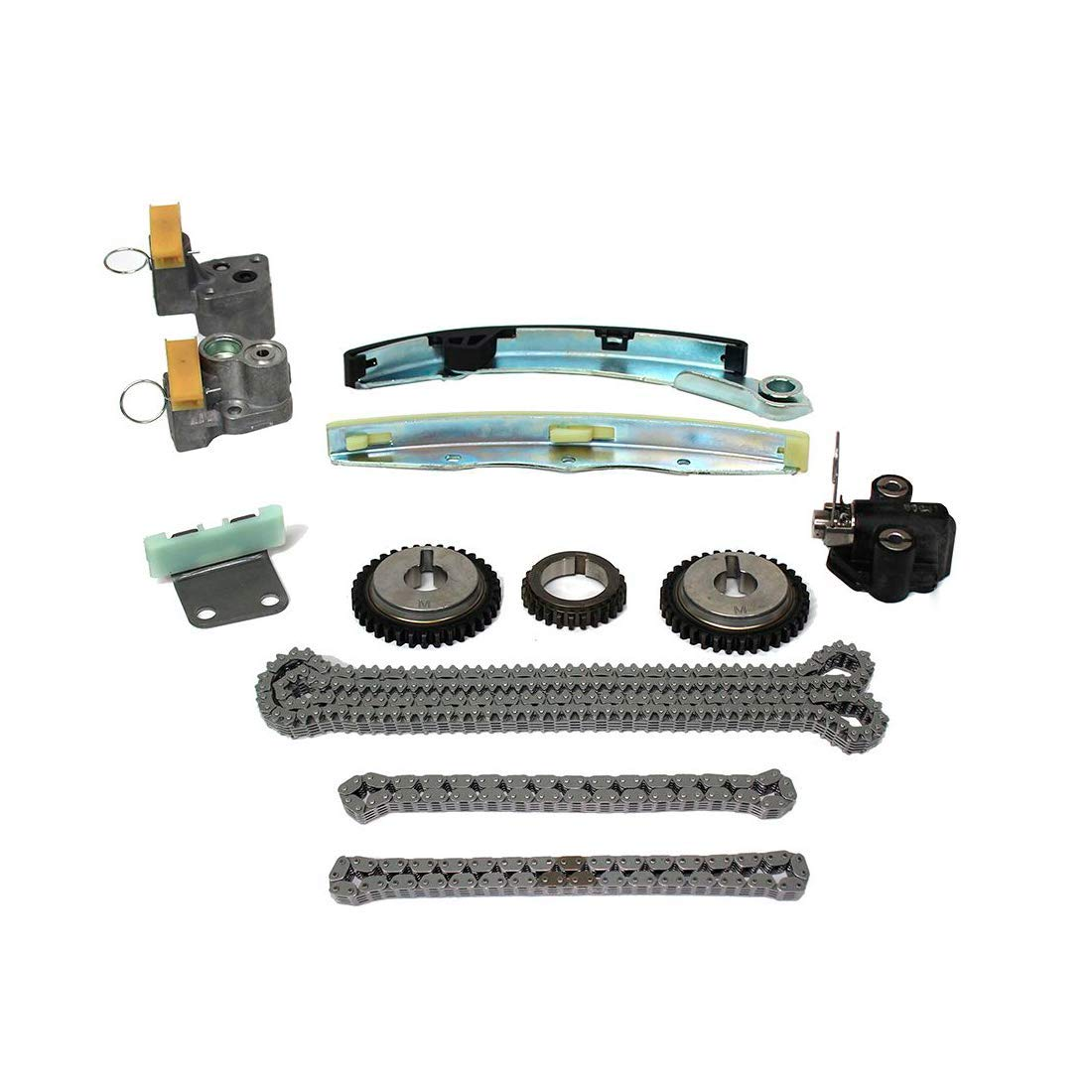 Quest Maxima DOHC VQ35DE 3498cc 24V V6 3.5L Nissan//Altima DNJ TK645 Timing Chain Kit for 2004-2009