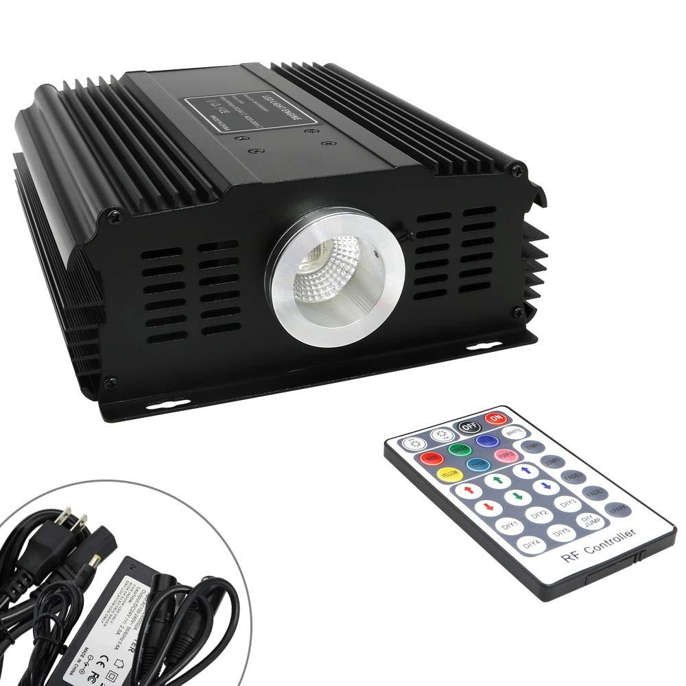 DMX512 LED RGB Light Source with RF 28 Key Remote Control for Fiber Optic Lighting Star Ceiling Kit 90W Engine Driver
