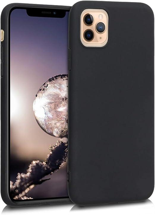 kwmobile Coque en TPU compatible avec Apple iPhone 11 Pro Max – Coque de protection souple fine et souple – Noir mat