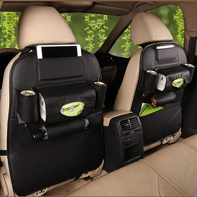 Sxlfdll 2 Stück Auto Rückenlehnenschutz Rücksitztasche Auto Rücksitz Organizer Für Kinder D Küche Haushalt