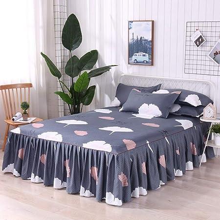 Funda de cama engrosamiento de lana de algodón, cama individual ...