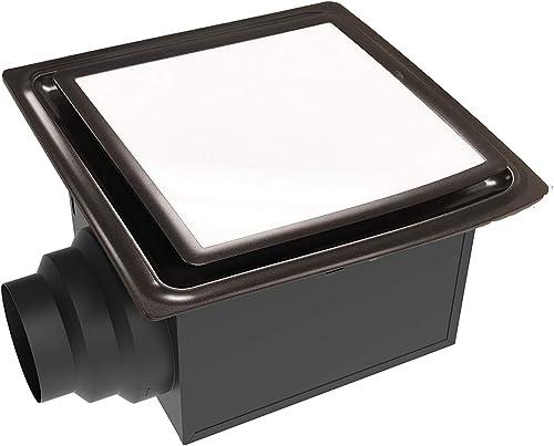 Aero Pure ABF110 L5 ABF110L5 Ceiling Mount 110 CFM w LED Light Nightlight, Energy Star Certified, Oil Rubbed Bronze Quiet Bathroom Ventilation Fan