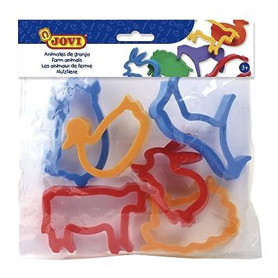 Jovi - Bolsa, 6 moldes, Animales de Granja (7G): Juguetes y juegos