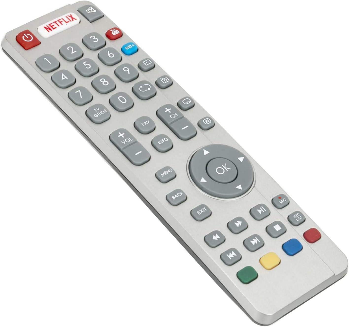 ALLIMITY SHW/RMC/0116 RF Control remoto reemplazado para Sharp Aquos 3D HD LCD LED Smart TV con Netflix Youtube NET+Botones: Amazon.es: Electrónica