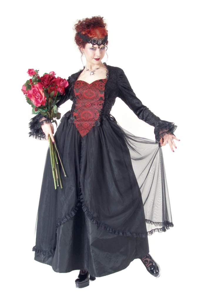 Eternal Love Plus Size Scarlet Gothic Sacred Heart Belle Dame Wedding Gown Dress (2X)