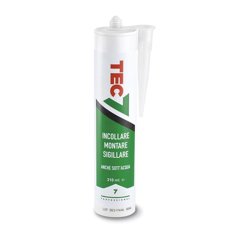 TEC7 silicona para pegar sellado, Montar Y también bajo el agua adhesivo sellador Linea Top 310 ml: Amazon.es: Bricolaje y herramientas