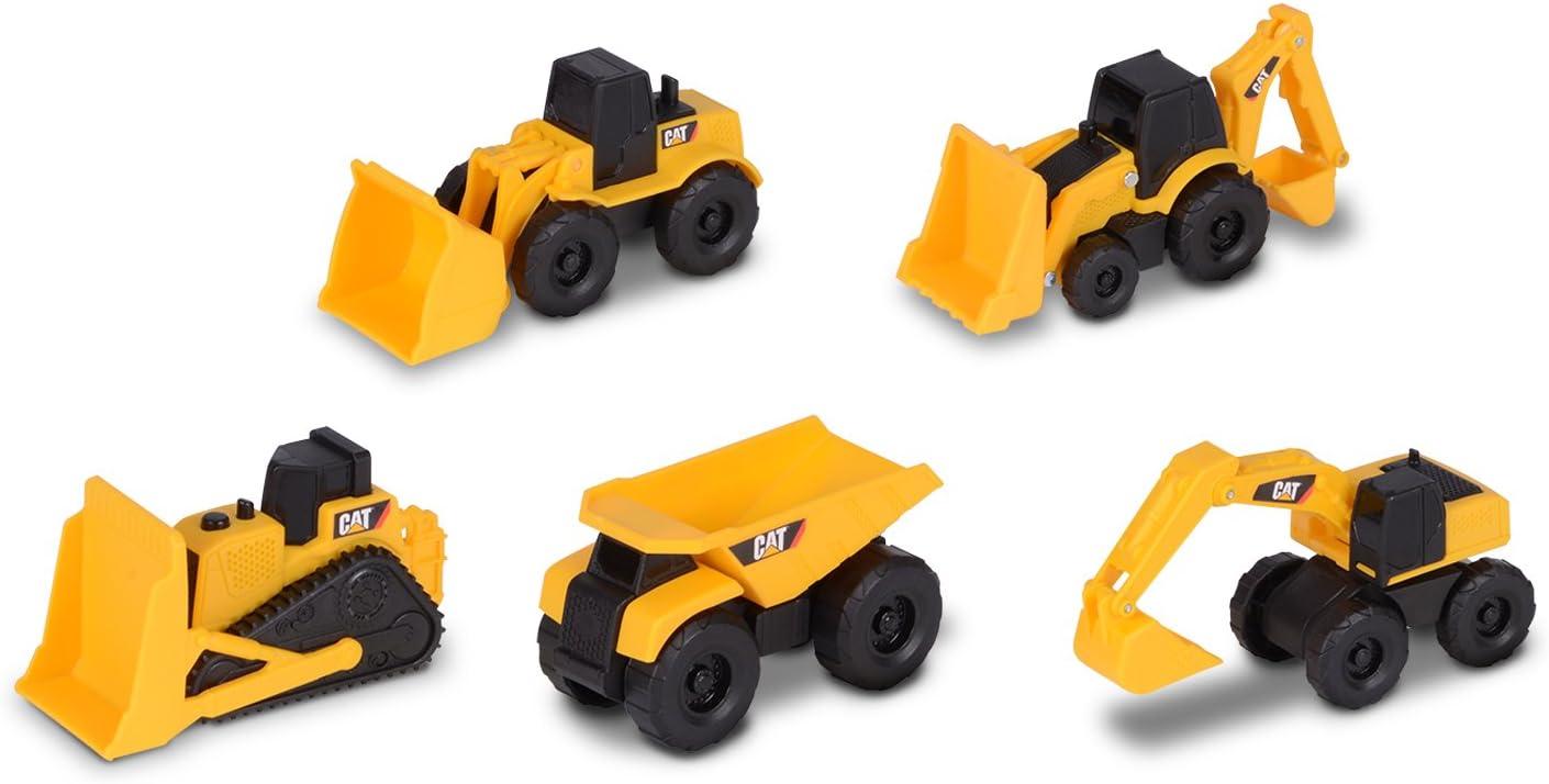 Toy State- Disney Cat Vehículo de Obras Públicas y Construcción, Color Amarillo, 8.9 x 3.8 x 3.8 cm (34601)