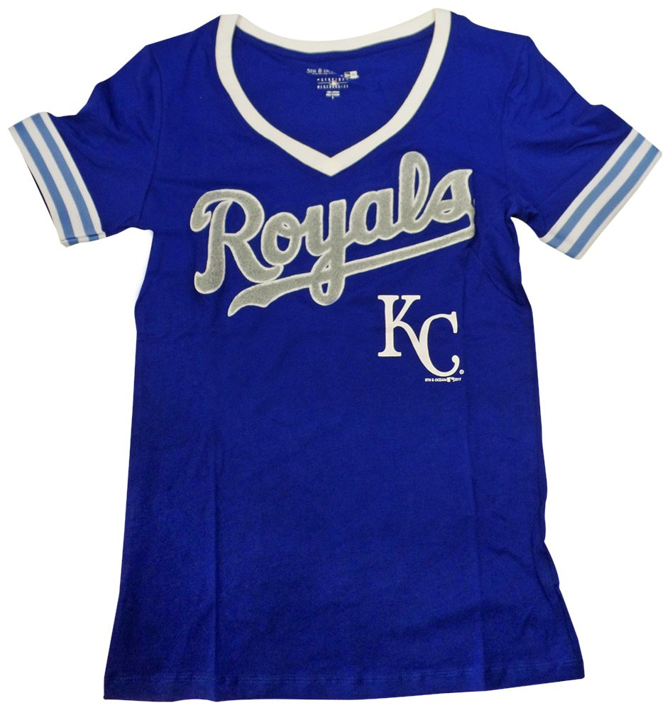 【最安値挑戦】 Kansas City B06XHVGJQ9 RoyalsレディースS/ S Vネックベビージャージー RoyalsレディースS 3L S B06XHVGJQ9, 新庄村:d8628561 --- a0267596.xsph.ru