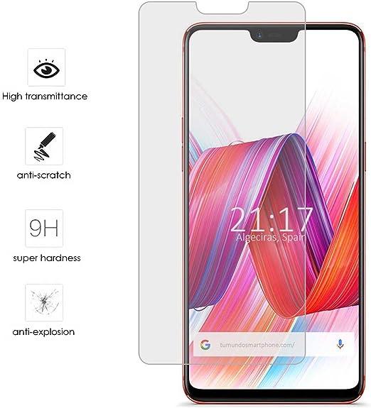 Tumundosmartphone Protector Cristal Templado para OPPO R15 Pro ...