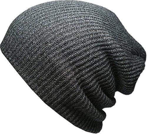 KBW-10 DGY Heather Slouchy Beanie Skull Cap Hat