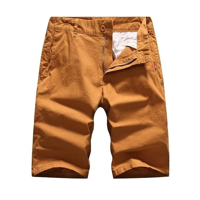 OPAKY Pantalones Cortos de Bolsillo para Hombre Pantalones ...