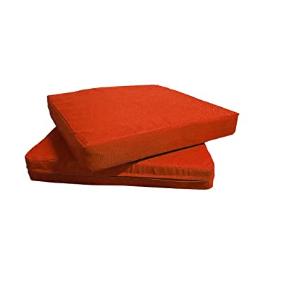 QQbed Patio Cushion Covers for Outdoor Deep Seat Lounge (20X18, Citrus) : Garden & Outdoor