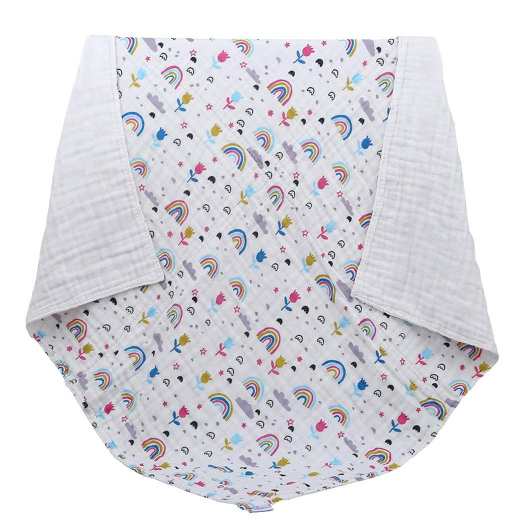 100/% Cotton Natural Baby Towels with Printed Design Soft Baby Bath Face Towels Blanket Swaddle Premewish Baby Muslin Washcloths Breathable Water Absorbent