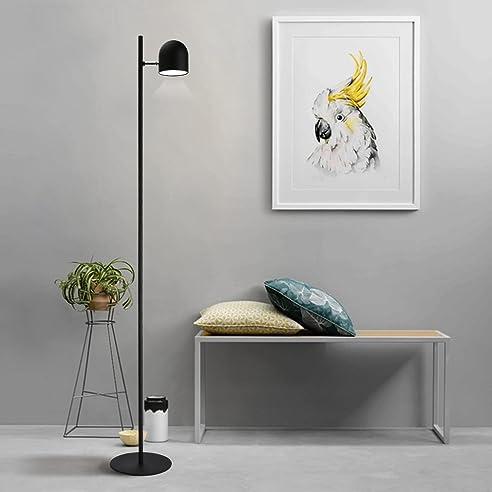 Tonffi Einzelkopf Dimmbar Stehlampe LED Standleucht 6W 400LM 5000K Touch Schalter Standlampe Fur Wohnzimmerlampe Und