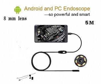 Werkzeuge 8mm Snake Scope Endoskop Wasserdicht Inspektion Hd Kamera Boroskop Für Andorid Windows Mac Os 2 M Flexible Kabel Usb 6 Led GroßEr Ausverkauf Messung Und Analyse Instrumente