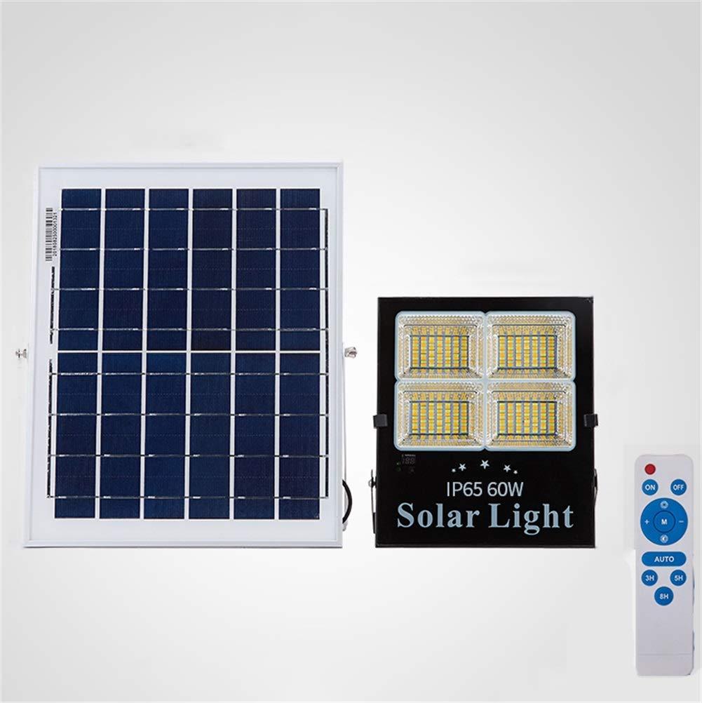 Csndice Home Solare LED Faretto Da Esterno,Riflettore Impermeabile Di Sicurezza Del Patio Del Quadrato Di Alto Potere Impermeabile Di IP65 IP65 66 (dimensioni   60W)