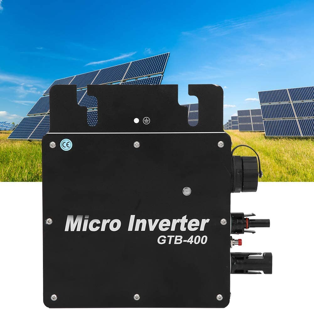 AV210-230V AMONIDA Aluminum Alloy Convenient Installation Micro 400W Micro Inverter Solar Power Grid Tie Inverter for Home Use Sunny Day Industry Outdoor