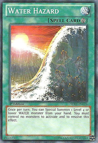 Yu-Gi-Oh! - Water Hazard (SDRE-EN026) - Structure Deck: Realm of the Sea Emperor - 1st Edition - Common (Yu Gi Oh Realm Of The Sea Emperor)
