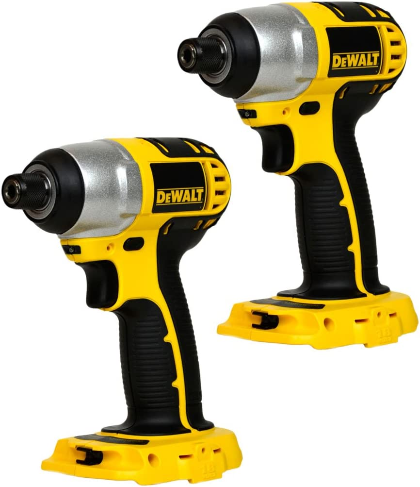Dewalt DC825 2 Pack 18V 1 4 Hex Cordless Impact Driver New Bare Tool