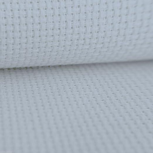 14 Aida de punto de cruz tela blanca 100% algodón – 100 cm x 50 cm: Amazon.es: Hogar