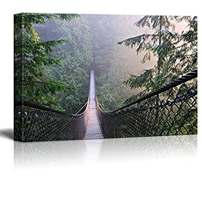 Canvas Prints Wall Art - Lynn Canyon Park & Suspension Bridge in Lynn Valley - 24
