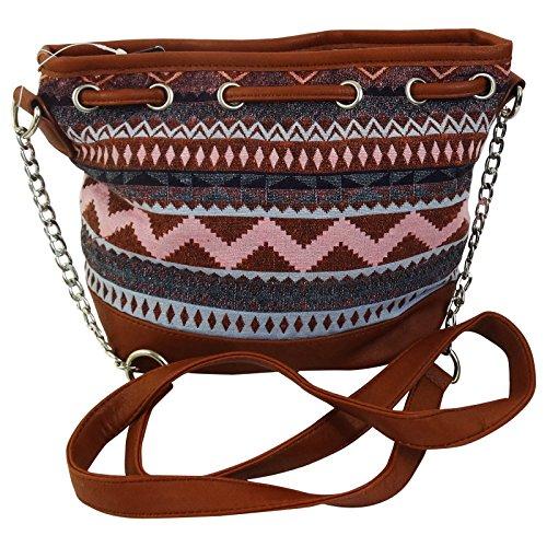 KRM Tikal Borsa Bucket a Secchiello da Donna Ragazza con Tracolla