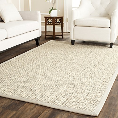 [Safavieh Natural Fiber Collection NF525C Marble Sisal Area Rug (5' x 8')] (Ivory Cream Marble)
