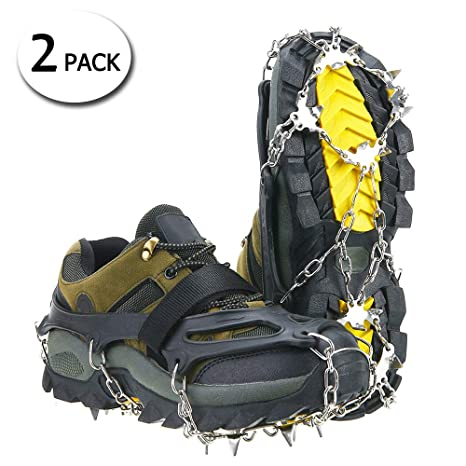 2x Ice Antislip Snow Gripper Cleat Crampons Shoe Quality Hiking Climb Boot Cover