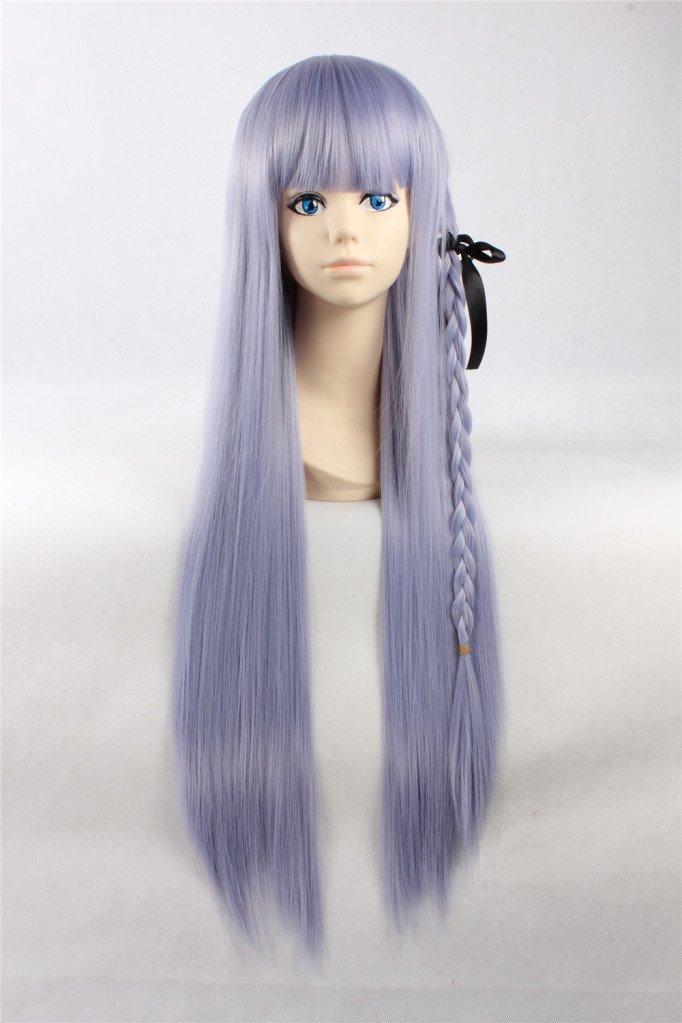 COSPLAZA Cosplay Wigs Perruque Carnaval Kirigiri Kyouko longue bleue pourpre Party Anime Cheveux