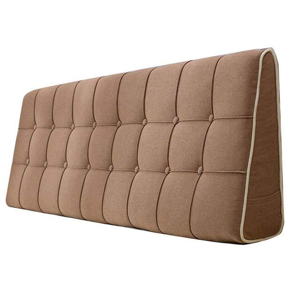 LIANGLIANG クッションベッドの背もたれ ホームベッドルームベッド背もたれクッション読書三角枕ダブル人物余分なLarg、6色、7サイズ (色 : Brown, サイズ さいず : 190x50x15cm) 190x50x15cm Brown B07KK1HGHY
