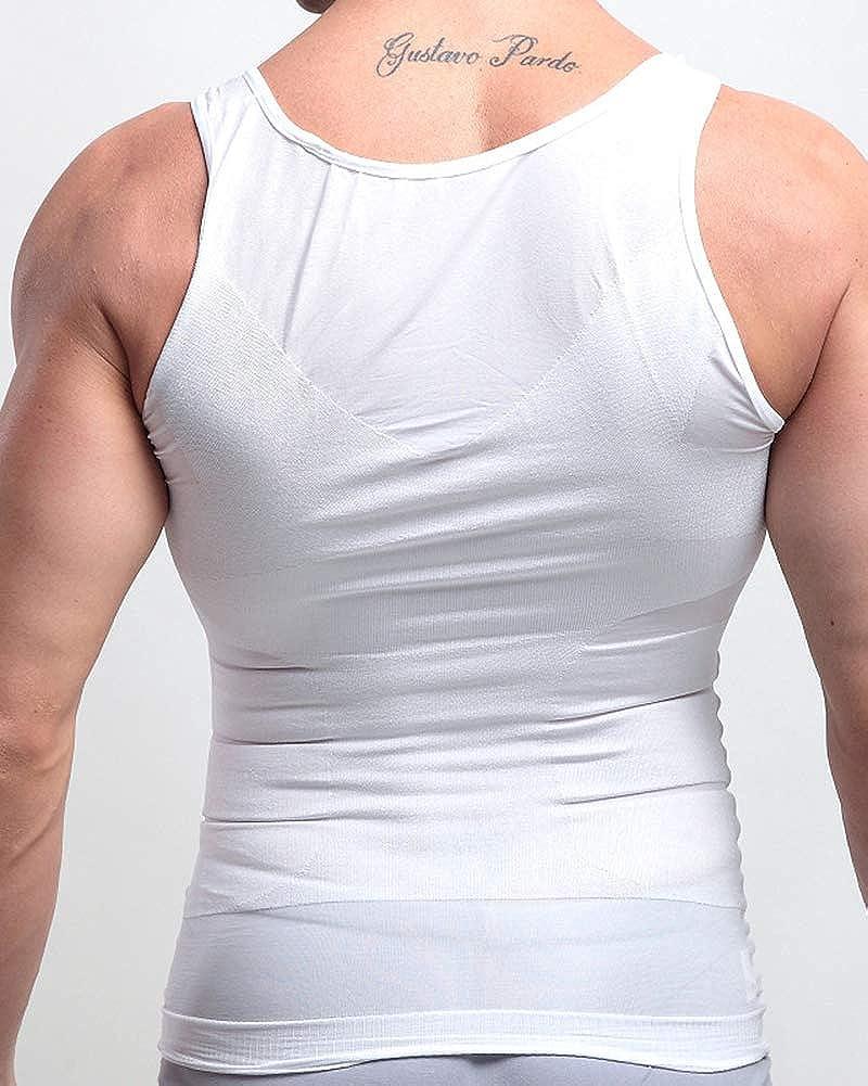 Veste Chemise gyn/écomastie Compression pour Cacher Seins Homme Shapewear Minceur Moobs Hommes Aplatir Entier Abdomen