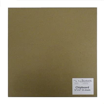 amazon com spc light chipboard sheets 12 x 12 inches 25 per