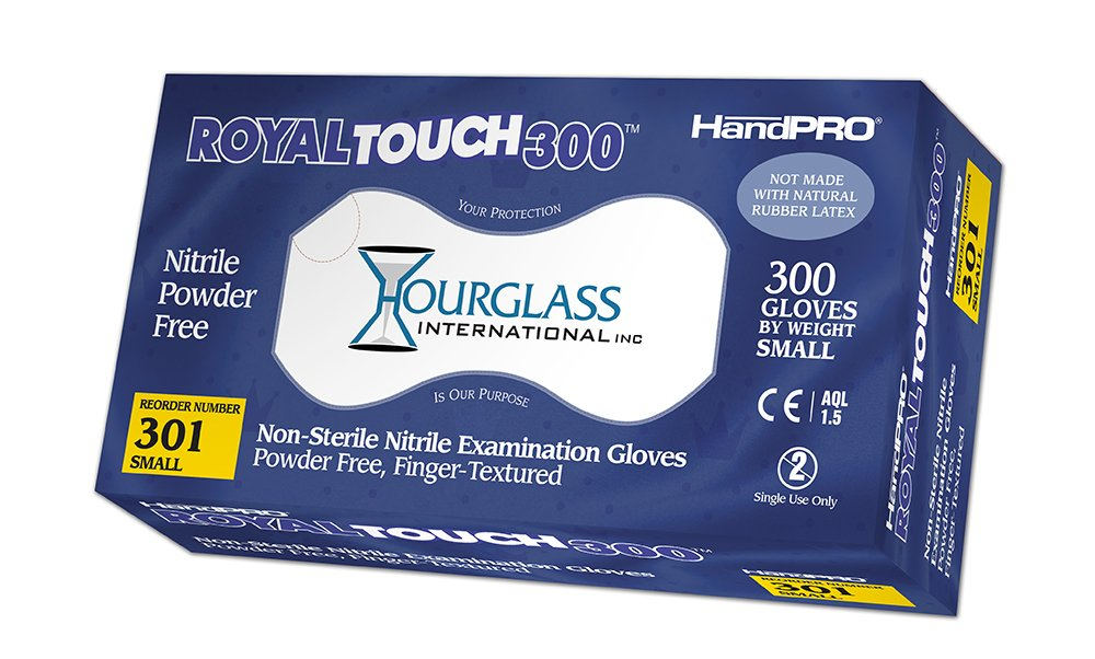 HandPRO 301-CASE RoyalTouch300 Nitrile Gloves, Exam, Powder-Free, Small, Royal Blue, 300 per Box, Case of 10 Boxes (Pack of 3000) by HandPRO (Image #1)