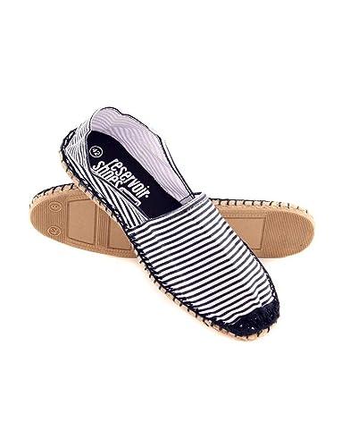 Reservoir Espadrille Shoes Chère Marinière Bleu Pas Homme wZkXilOPuT
