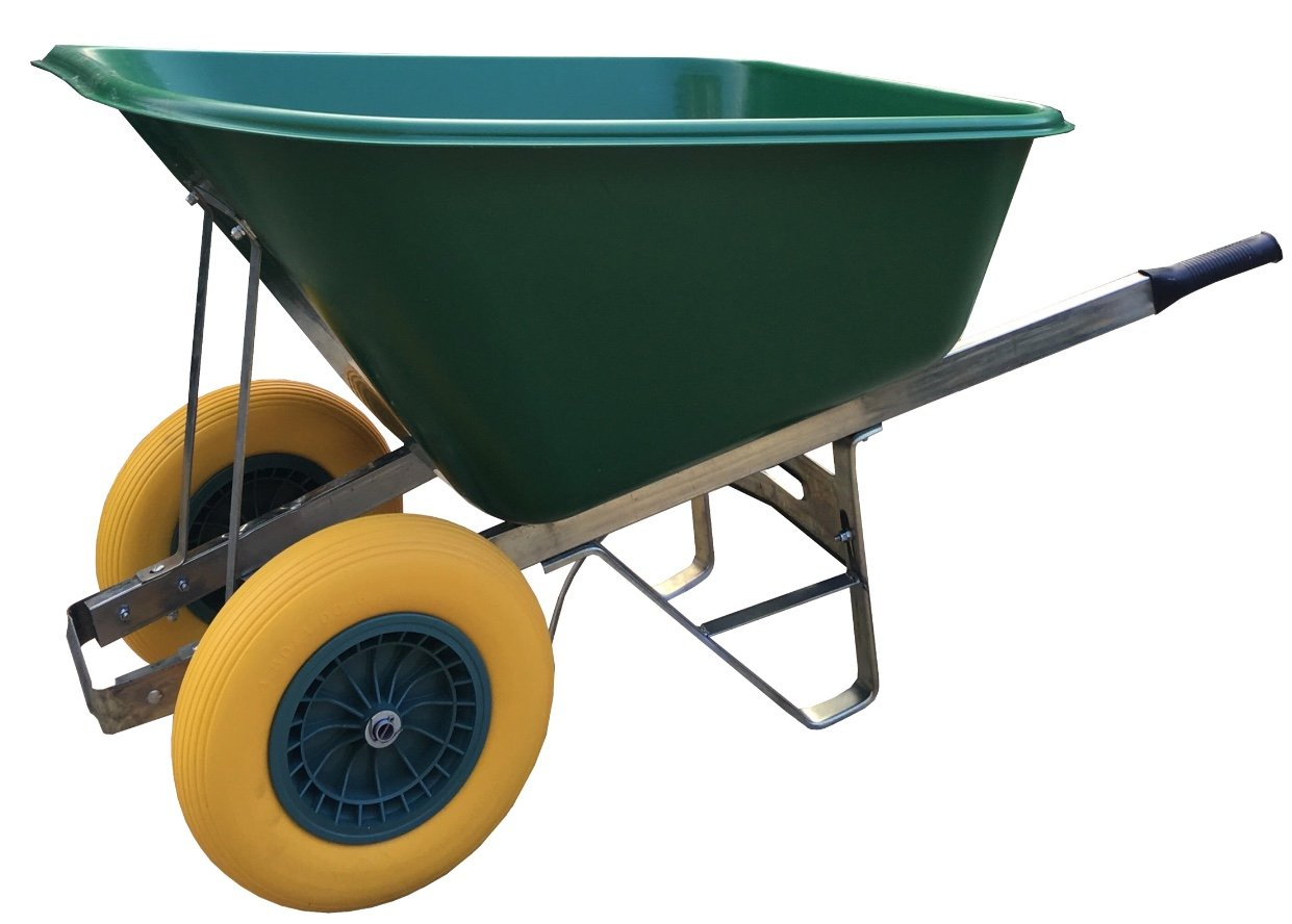 wheelbarrow 200l green Fully Assembled 200l Puncture-Proof