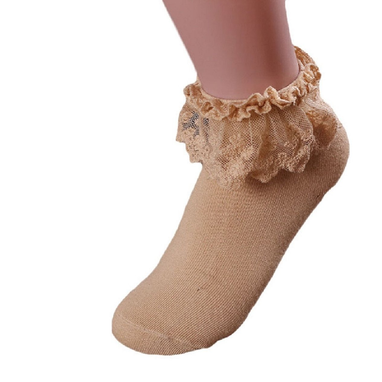 Amazon.com: Malloom 2016 Fall Vintage Lace Ruffle Frilly Ankle Socks Princess Girl Soft Socks: Clothing