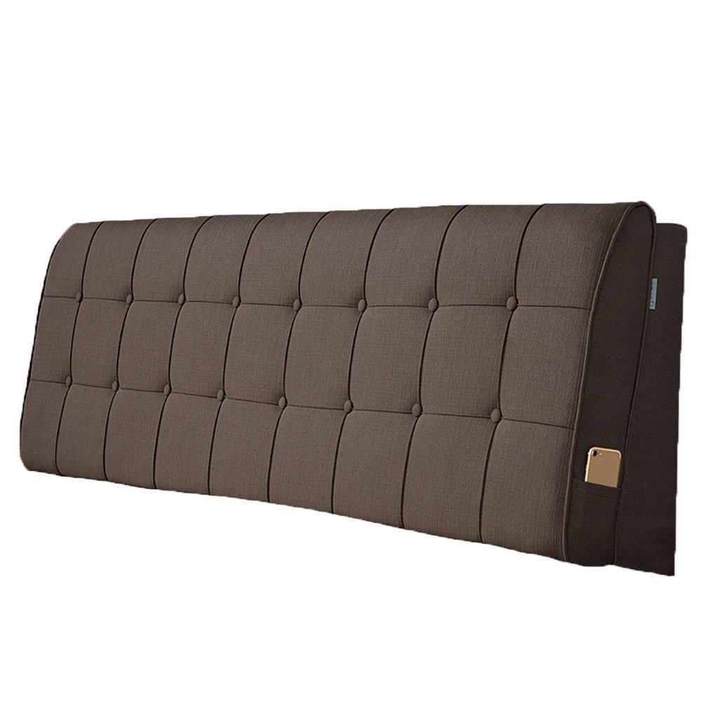 LIANGLIANG クッションベッドの背もたれ 二人の特別な通気性の多機能ベッドサイドボードクロス付き、5サイズ、13色 (色 : Brown, サイズ さいず : 200x60x10cm) B07FRN4YDH 200x60x10cm|Brown Brown 200x60x10cm