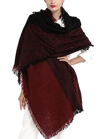 SOIXANTE Echarpe femme tissu épais en tricoté foulard chaude hiver longueur  195cm 74cbac0dc6d