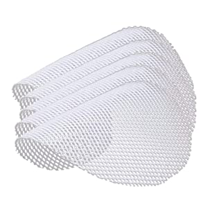 INCHANT Silicone Steamer Mesh,Non-Stick Round Dumplings Mat for Steaming Basket,Reusable Steamer Paper Liners(13.8 inch diameter) Pack of 5