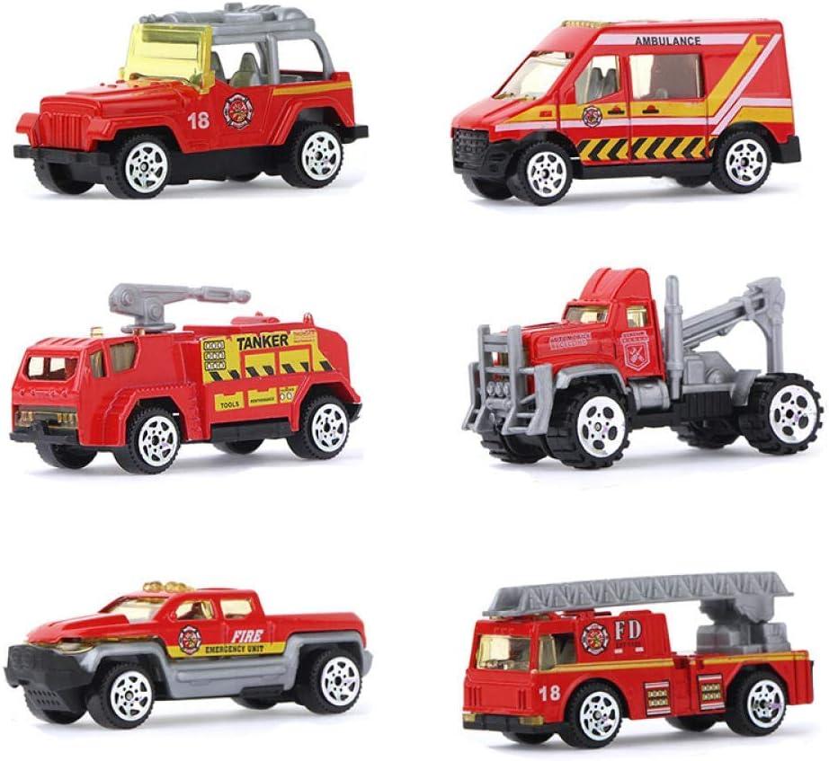 1yess 5 Types Alloy Mini Voiture Miniature Kid Tracteur Ingénierie Véhicule Jouet éducatif for Les garçons Cadeaux d'anniversaire (Color : E) B