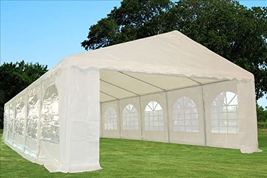 Amazon.com  32u0027x16u0027 PE Party Tent White - Heavy Duty Wedding Canopy Carport Shelter - with Storage Bags - By DELTA Canopies  Storage Sheds  Garden u0026 ... : really big tents - memphite.com