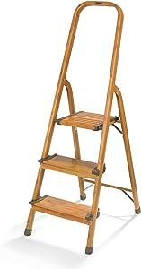 3-Step Ultralight Ladder, Woodgrain