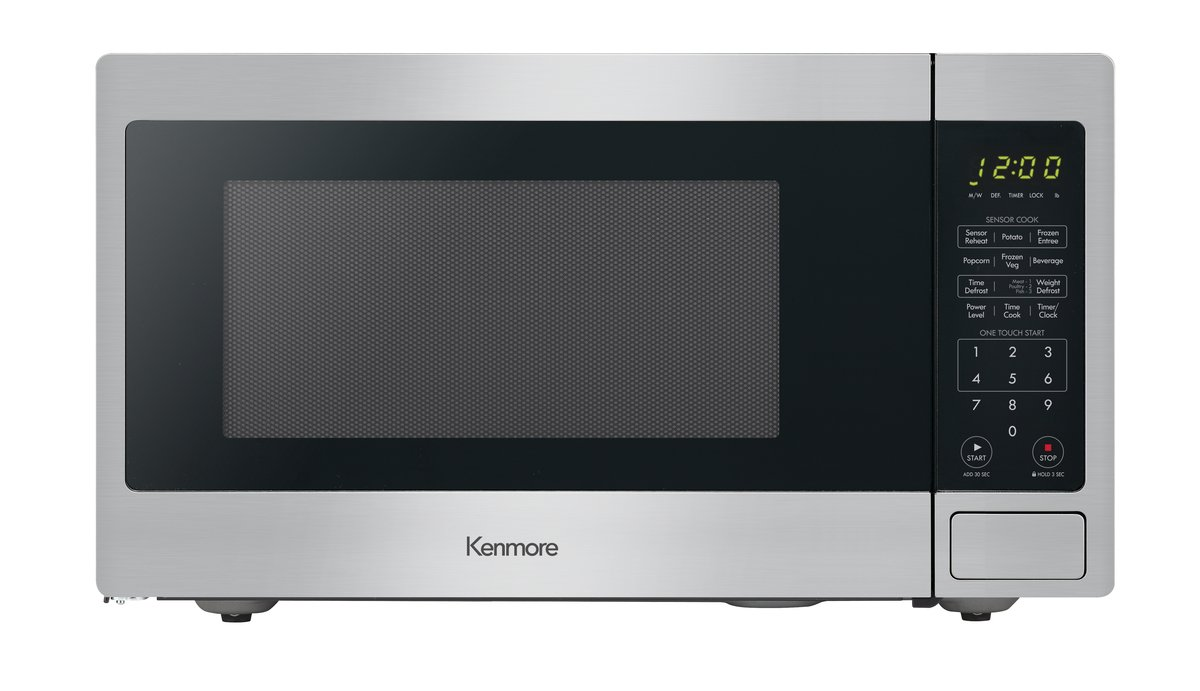 Kenmore 71313 1.3 cu. ft. Countertop Microwave with Sensor in Stainless Steel